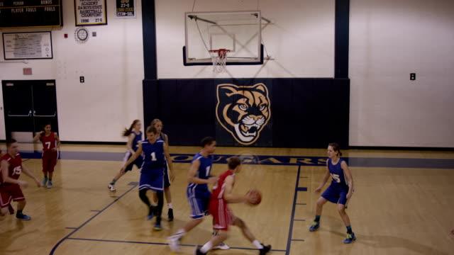Co-ed High School Basketball Players video