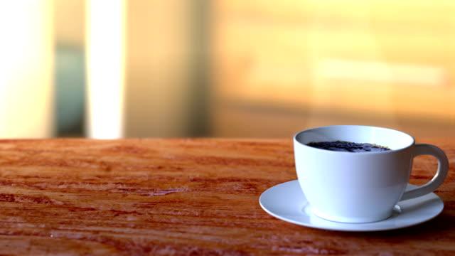coffee advertising - pausa caffè video stock e b–roll