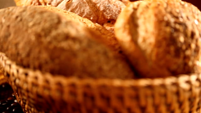 Coffee and bread Coffee cup and fresh bread. bun bread stock videos & royalty-free footage