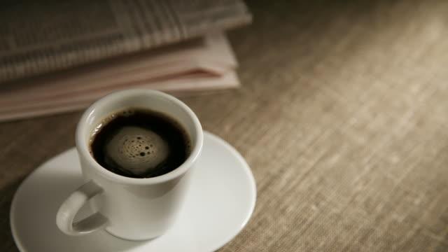 Coffee and newspaper video