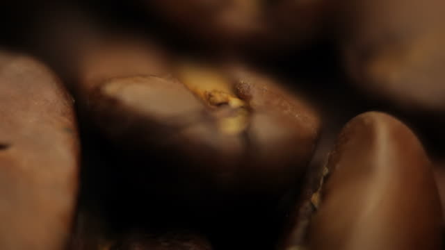 Coffee beans background video