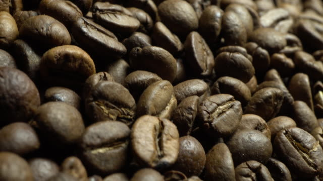 Coffee beans in rotation video