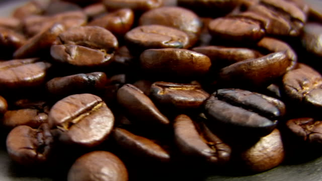 coffee beans, rotate, macro video