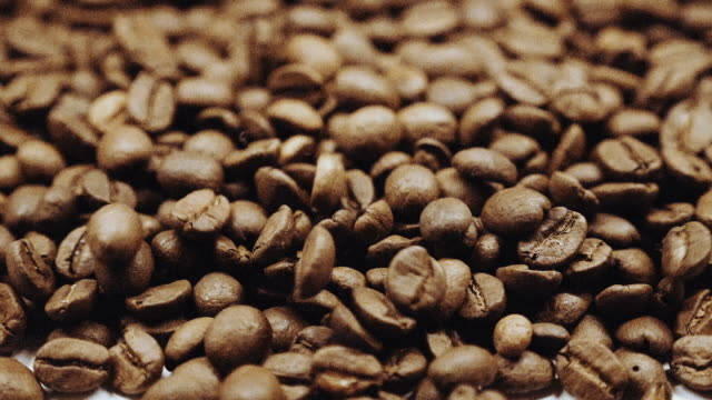 Coffee beans slow motion video