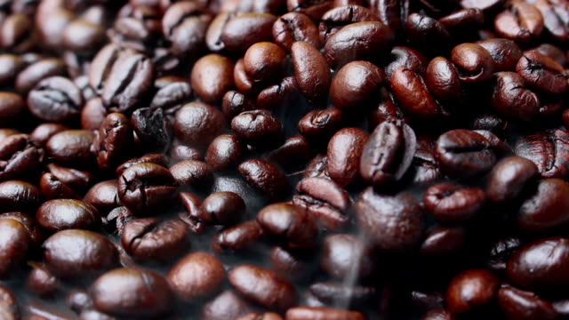 Coffee Beans With The Smoke 3 clip video