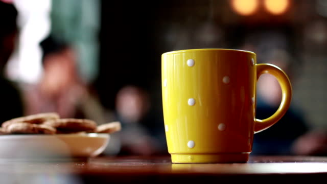 Coffee break Coffee or Tea break yellow stock videos & royalty-free footage