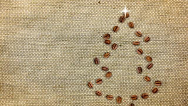 Coffee Christmas Tree Background. video