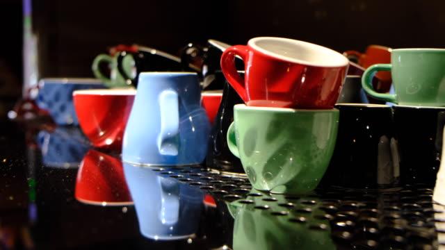 vidéos et rushes de tasses à café - vaisselle picto