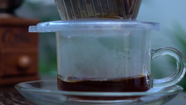 Coffee drip,Slow motion video