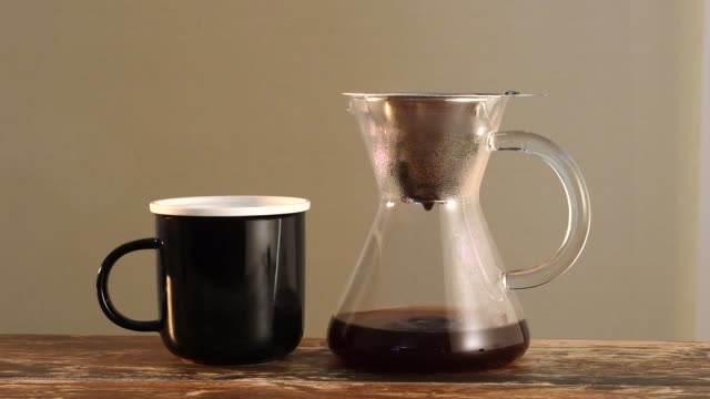 Coffee Flows Into The Pot