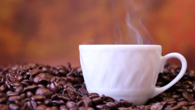 coffee grain pairs cup smoke coffee grain pairs cup smoke coffee cup stock videos & royalty-free footage