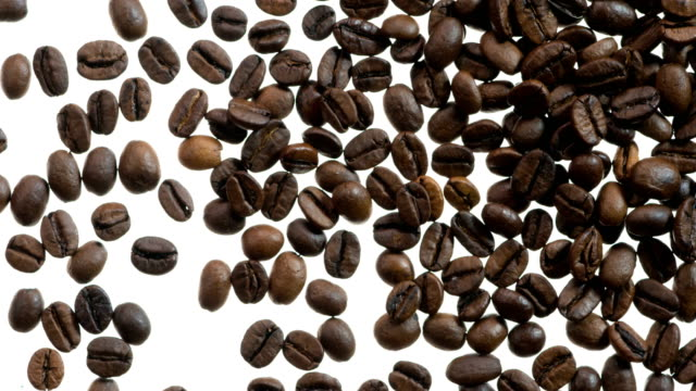 Coffee Grains Fall in Frame video