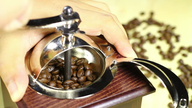 Coffee grinder video
