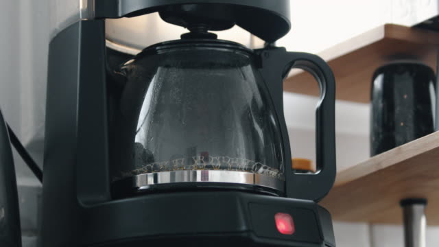 Coffee is Brewing in the Filter Coffee Machine