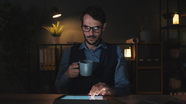Coffee is the solution to a late night at the office. video