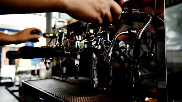 コーヒー manchine なコーヒーのコーヒードリンクはカフェインが含まれています。 ビデオ