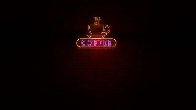 Coffee Neon Light Sign video