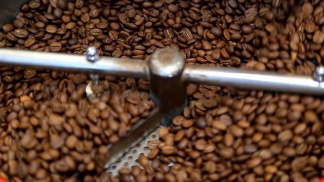 Coffee Roaster Cooling Down Freshly Roasted Coffee Beans video