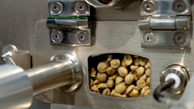 Coffee roaster machine is working. video