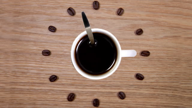 Coffee Time - Cup of coffee and clock of coffee beans video
