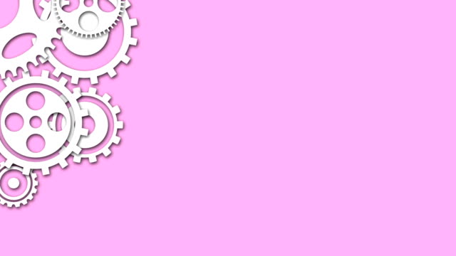 Cogs and gears spinning animation