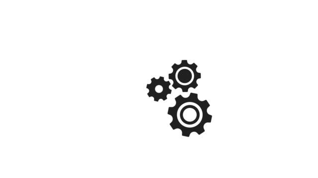 vidéos et rushes de pignons et roues animation avec luma facultatif matte. cache de luminance alpha inclus. vidéo de 4k - rouage