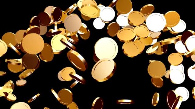 монеты падение - монета стоковые видео и кадры b-roll