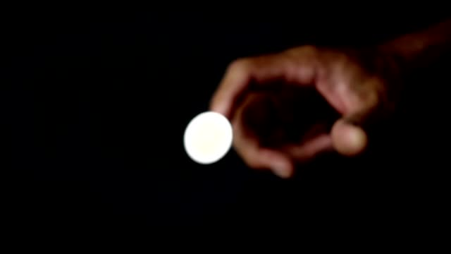 Coin flip in slow motion shot video