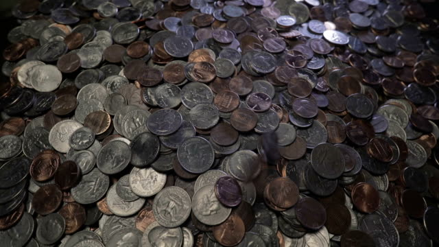 Coins Dropped in Pile at Normal Speed video