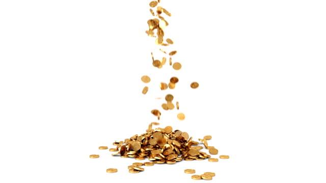 coins fall - монета стоковые видео и кадры b-roll