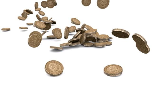 münzen fallen - pfand stock-videos und b-roll-filmmaterial