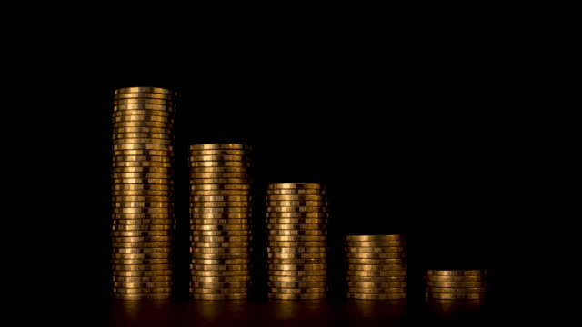 Coins Graph Declined Concept.