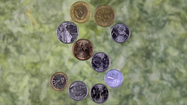 vídeos y material grabado en eventos de stock de monedas en stop motion - letra s