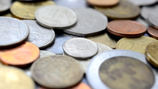 Coins of the different countries of the world. video