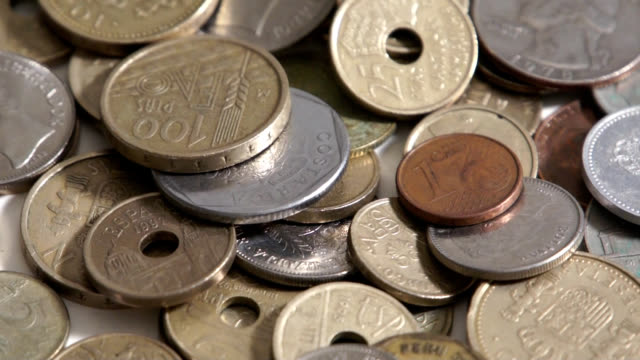 Coins (1) Display of coins several countries us coin stock videos & royalty-free footage