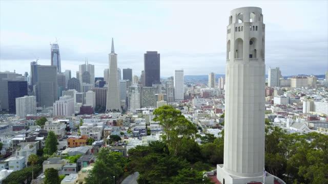 vídeos y material grabado en eventos de stock de torre coit - san francisco