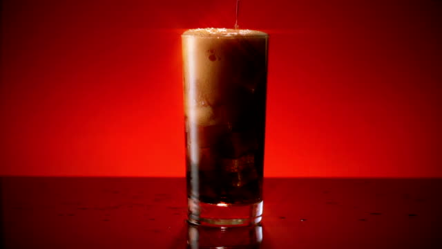 Cola Soda Glass Pour Wide Star Filter video
