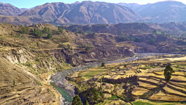 colca canyon in den anden perus - hochplateau stock-videos und b-roll-filmmaterial