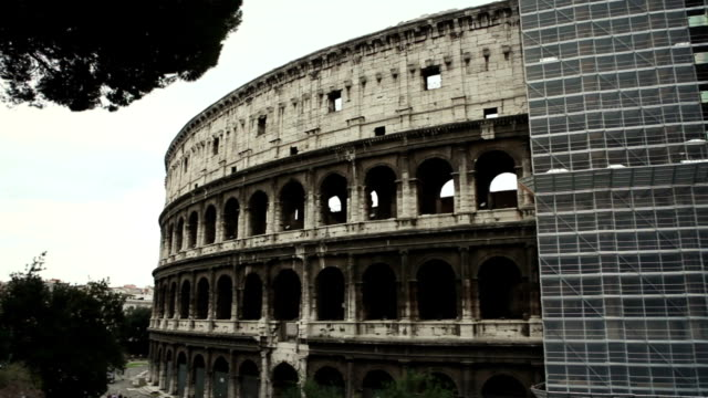 Coliseum renovation, covered by scaffolding video