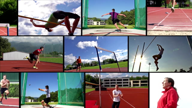 HD MONTAGE: Collage of Attractive Track@Field Sport Action video