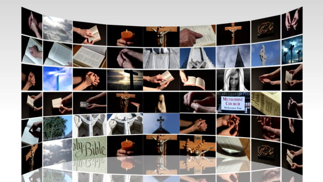 Collage of religious signs video