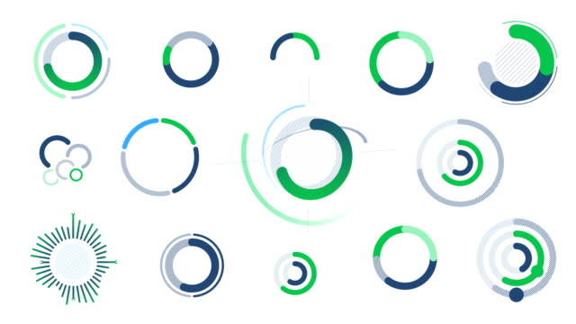 Collection of animated infographic elements
