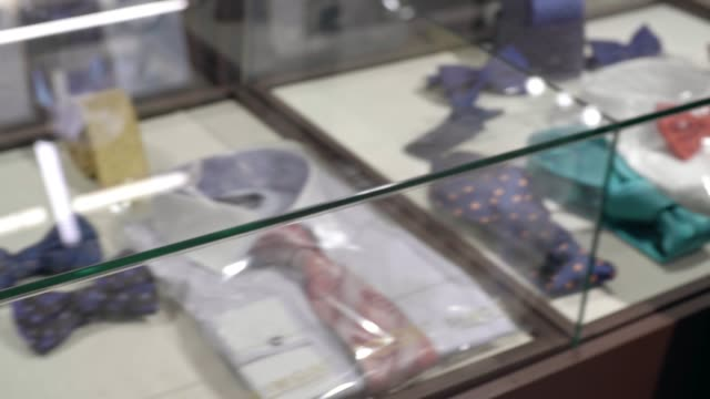 Collection of Expensive Bowties in Store video