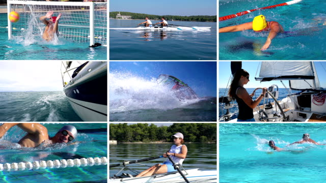 HD MONTAGE: Collection of Water Sport Action video