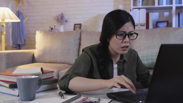 college girl loss look laptop error message