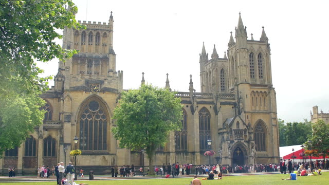 College Green - Exterior of Bristol cathedral video