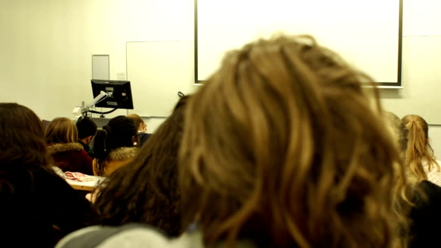 DOLLY HD - College Lecturer / Teacher addressing University Students video