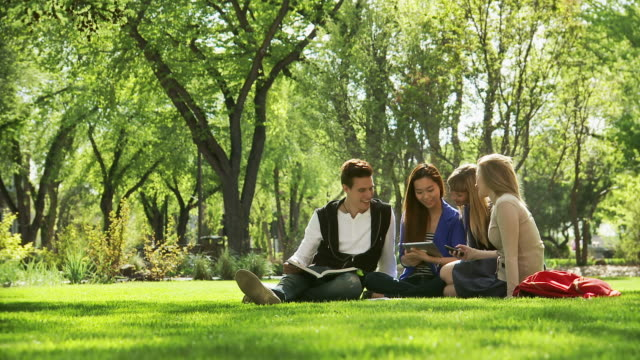 College students talk video