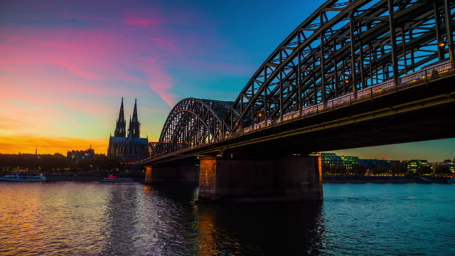 Cologne Cathedral and Rhine river - 4K Cityscapes, Landscapes & Establishers video