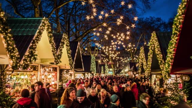 科隆耶誕節市場, 德國 - 廣場 個影片檔及 b 捲影像